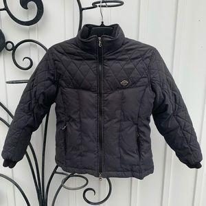 HARLEY-DAVIDSON Black Down Motorcycle Coat Jacket